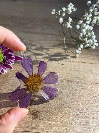 Pandantiv cu floare de camp mov [4]