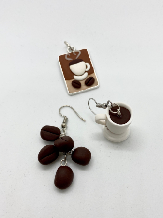 Set cafea din lut polimeric  - Handmade [1]