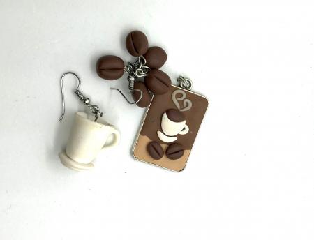 Set cafea din lut polimeric  - Handmade [2]