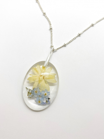 Set de bijuterii cu flori - Set bijuterii handmade [4]