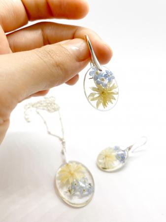 Set de bijuterii cu flori - Set bijuterii handmade [2]