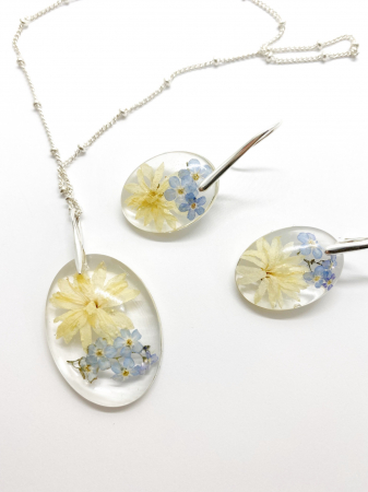 Set de bijuterii cu flori - Set bijuterii handmade [3]
