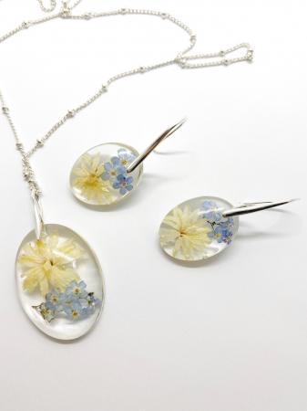Set de bijuterii cu flori - Set bijuterii handmade [0]