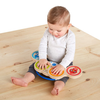 Baby Einstein - Jucarie muzicala de lemn Hape Magic Touch Drum 1