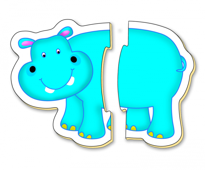 Baby Puzzle: Animale din jungla (2 piese) [5]