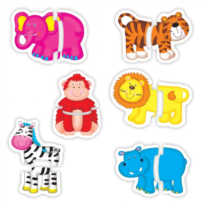 Baby Puzzle: Animale din jungla (2 piese) [7]