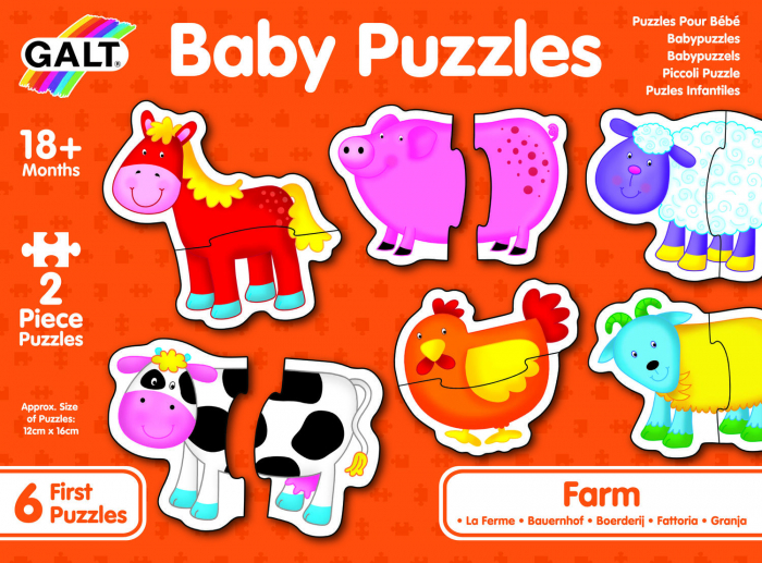 Baby Puzzle: Ferma (2 piese) 1