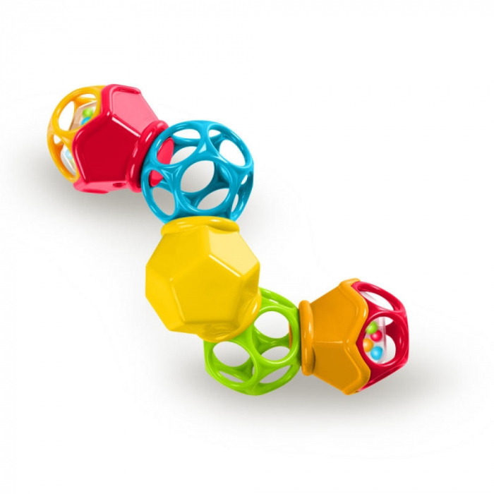 Bright Starts - Jucarie Clicky Twister™ Easy-Grasp Rattle Oball 0