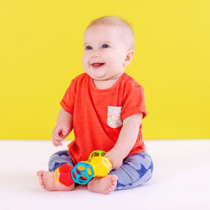 Bright Starts - Jucarie Clicky Twister™ Easy-Grasp Rattle Oball 2