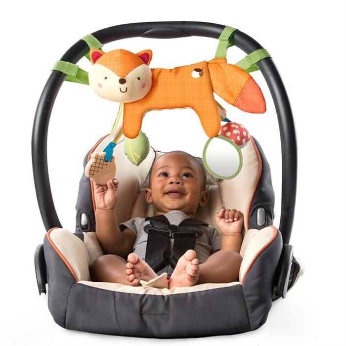 Bright Starts - Jucarie multifunctionala 2 in 1 Foxy Forest Toy Bar 2