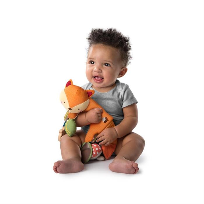Bright Starts - Jucarie multifunctionala 2 in 1 Foxy Forest Toy Bar 1