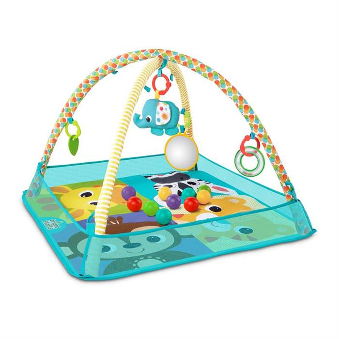 Bright starts - Salteluta de activitati cu bile More-in-One Ball Pit Fun 0