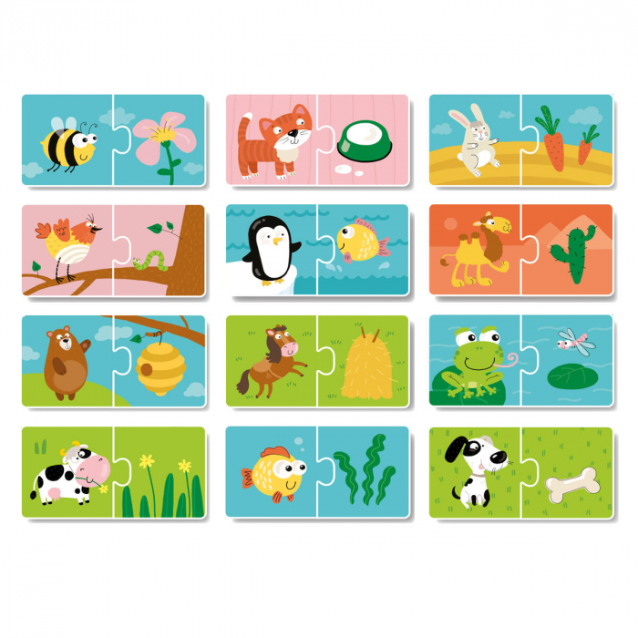 Duo Puzzle - Hrana animalelor (2 piese) 1