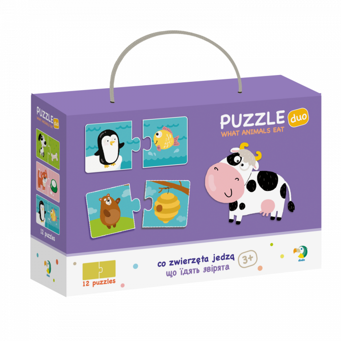 Duo Puzzle - Hrana animalelor (2 piese) 0