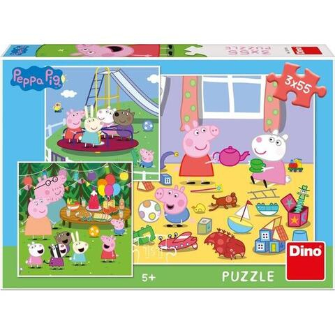 Puzzle 3 in 1 - Purcelusa Peppa in vacanta (55 piese) 0