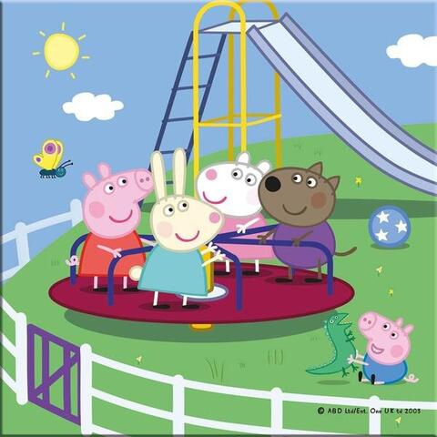Puzzle 3 in 1 - Purcelusa Peppa in vacanta (55 piese) 2