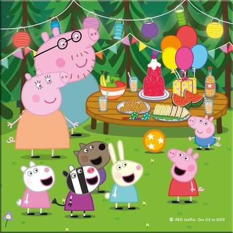 Puzzle 3 in 1 - Purcelusa Peppa in vacanta (55 piese) 3