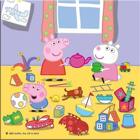 Puzzle 3 in 1 - Purcelusa Peppa in vacanta (55 piese) 4