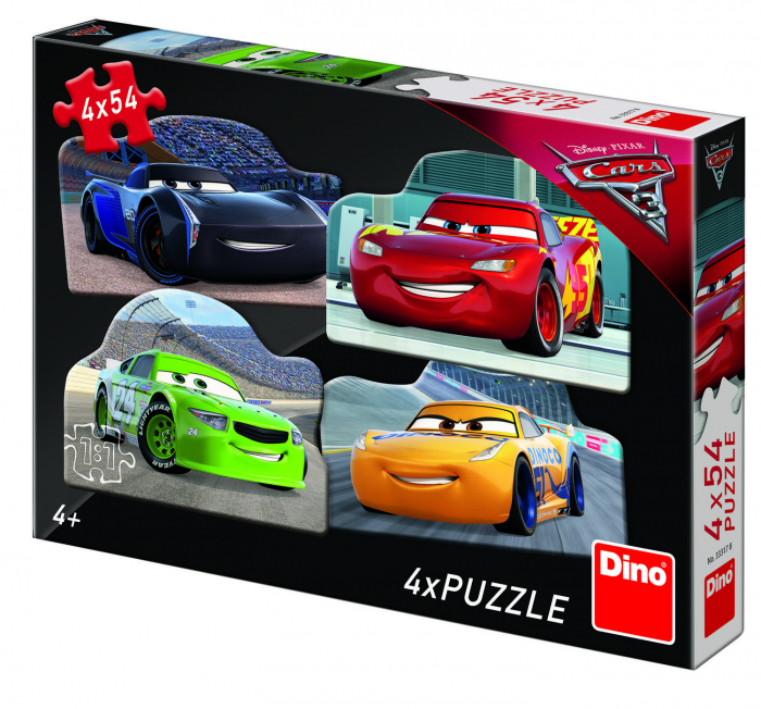 Puzzle 4 in 1 - Cars 3 (54 piese) 0