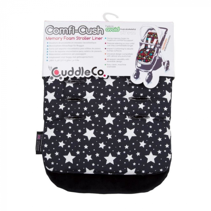 Saltea carucior Comfi-Cush Black and White Stars, 842094 0
