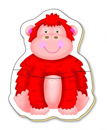 Baby Puzzle: Animale din jungla (2 piese) [4]