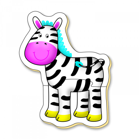 Baby Puzzle: Animale din jungla (2 piese) [6]