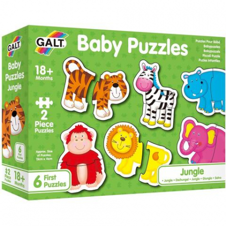 Baby Puzzle: Animale din jungla (2 piese) [1]
