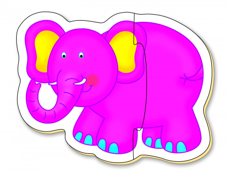 Baby Puzzle: Animale din jungla (2 piese) [3]