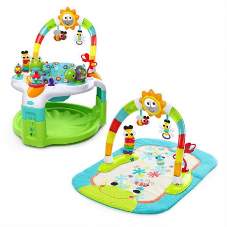 Bright Starts - Centru de activitati 2 in 1 Laugh & Lights0