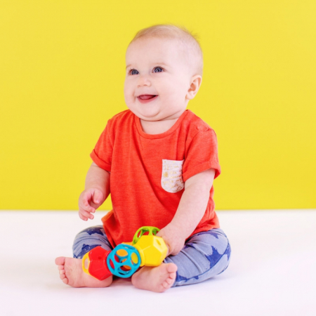 Bright Starts - Jucarie Clicky Twister™ Easy-Grasp Rattle Oball2