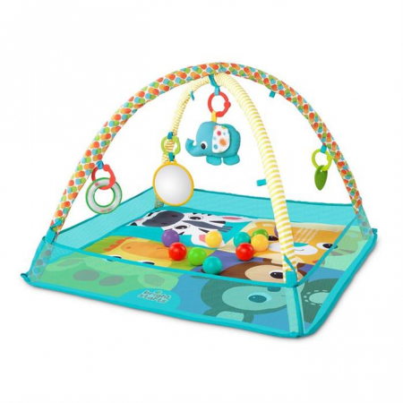 Bright starts - Salteluta de activitati cu bile More-in-One Ball Pit Fun1