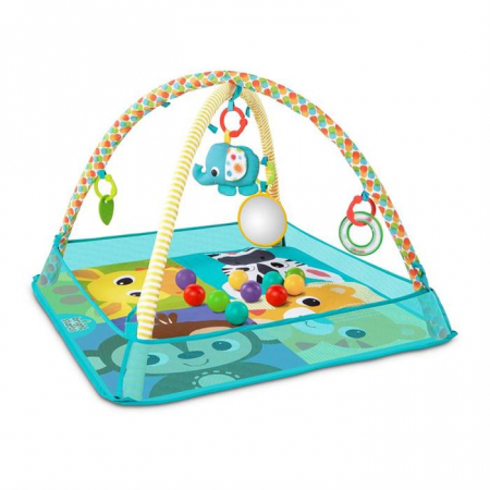 Bright starts - Salteluta de activitati cu bile More-in-One Ball Pit Fun0