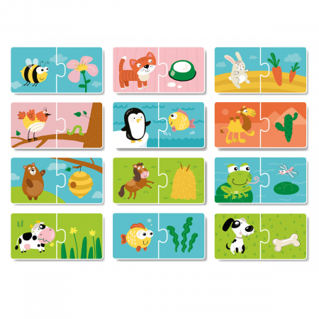 Duo Puzzle - Hrana animalelor (2 piese)1