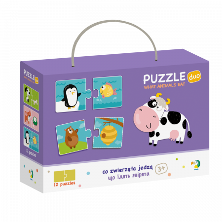 Duo Puzzle - Hrana animalelor (2 piese)0