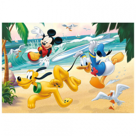 Puzzle 2 in 1 - Mickey campionul (77 piese)1