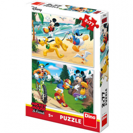 Puzzle 2 in 1 - Mickey campionul (77 piese)0
