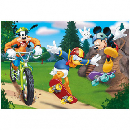 Puzzle 2 in 1 - Mickey campionul (77 piese)2