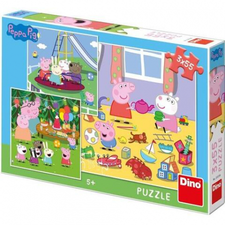 Puzzle 3 in 1 - Purcelusa Peppa in vacanta (55 piese)1