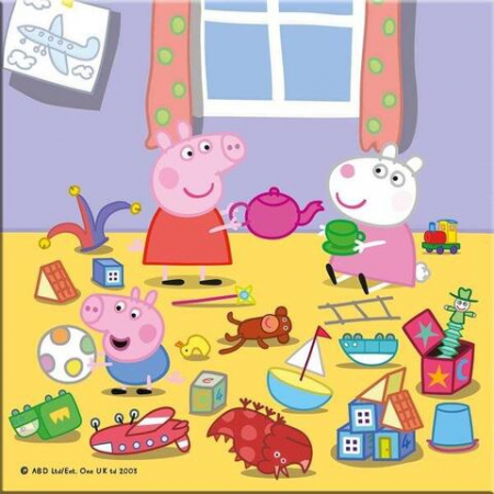 Puzzle 3 in 1 - Purcelusa Peppa in vacanta (55 piese)4