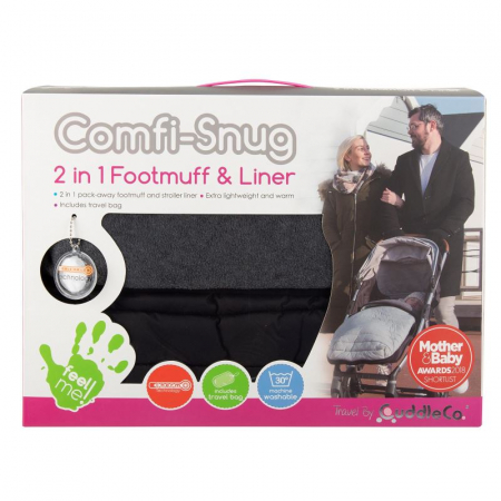 Sac de iarna Comfi-Snug Footmuff 2in1 Liquorice Black 8436192