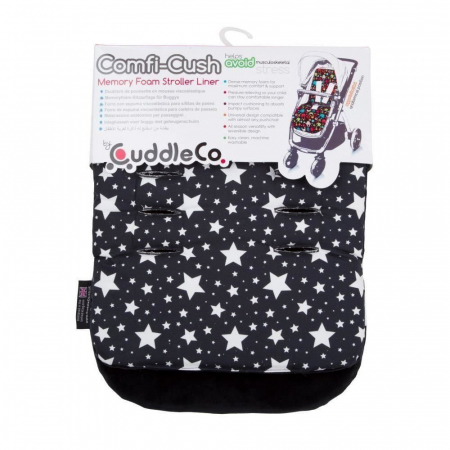 Saltea carucior Comfi-Cush Black and White Stars, 8420940