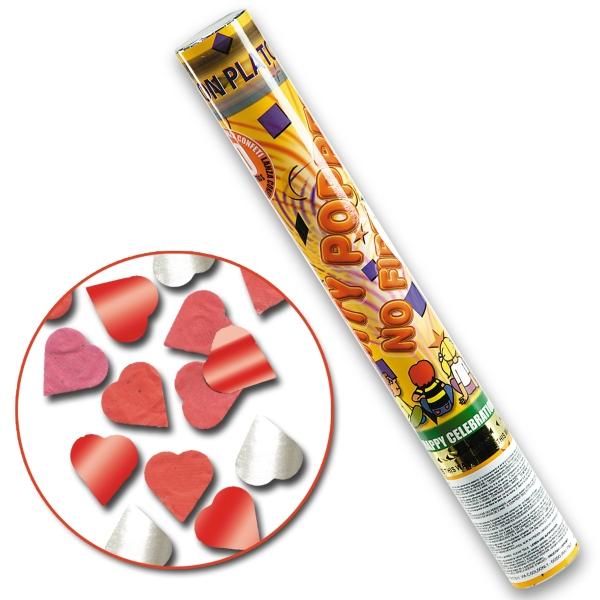 Tub confetti inimi H40cm cu aer comprimat [0]