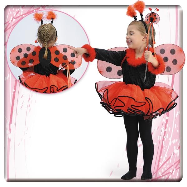 Costum Buburuza baberina pentru fetite 4-5 ani 0