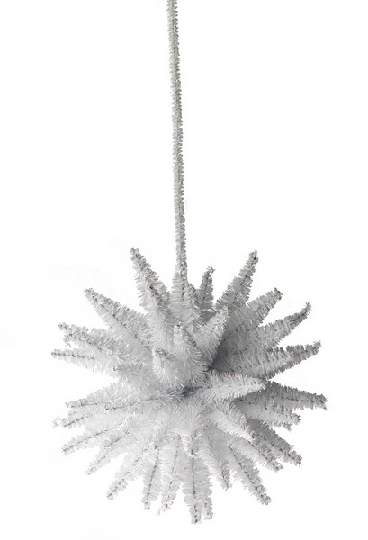 Decoratiune din beteala alb iridiscent diametru 160mm [0]