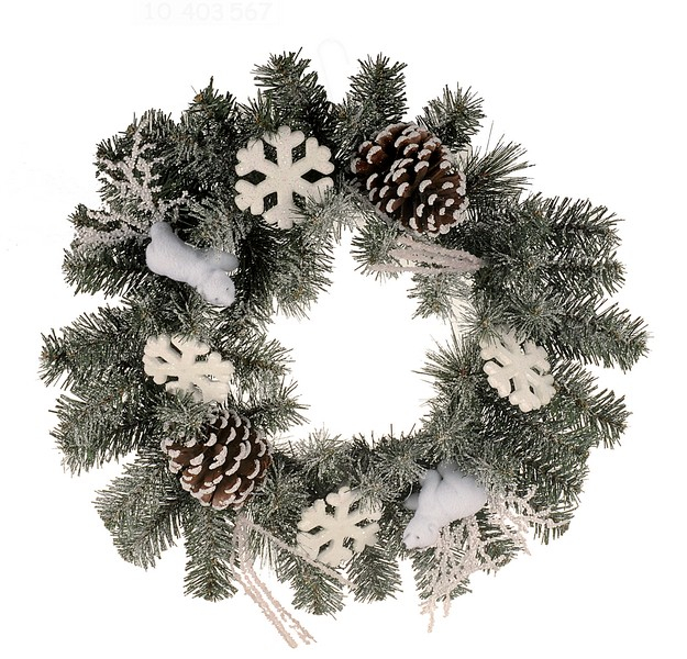 Coronita 45cm ninsa cu conuri si ornamente 0