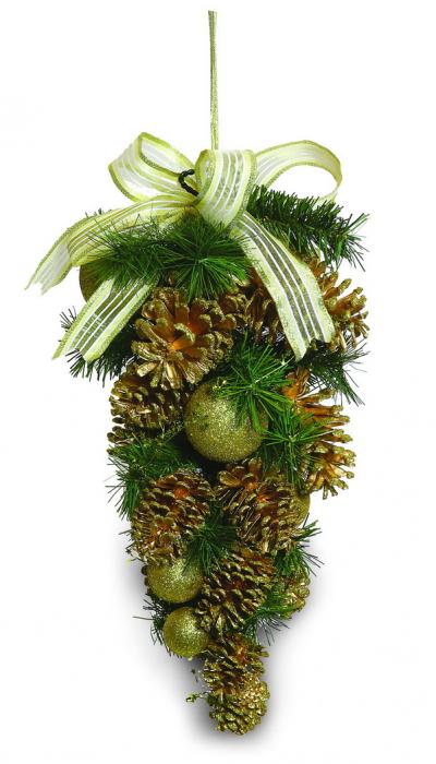Ornament pentru usa 45cm cu decor auriu [0]