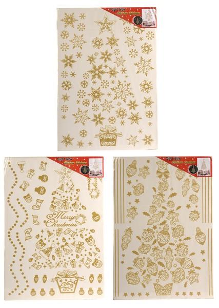 Abtibilde decorative fosforescente cu glitter 3 modele 49X69 cm 0