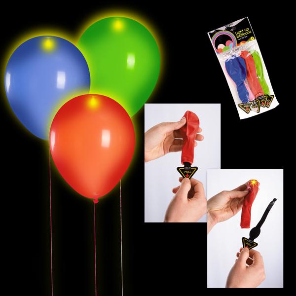 Set 5 baloane 30cm culori asortate cu 1 LED si baterie 0
