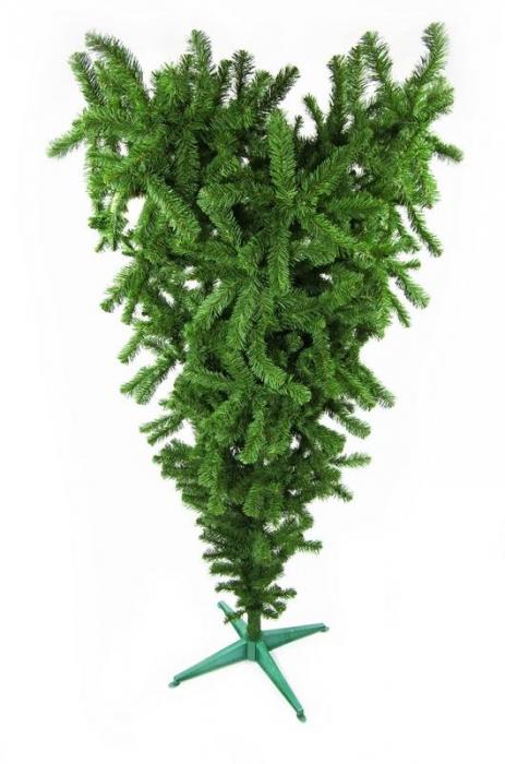 Brad artificial de Craciun Babbo Natale 180cm verde invers [0]