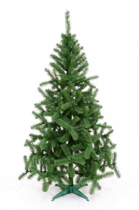 Brad artificial de Craciun Silvestro 200 cm verde inchis 2
